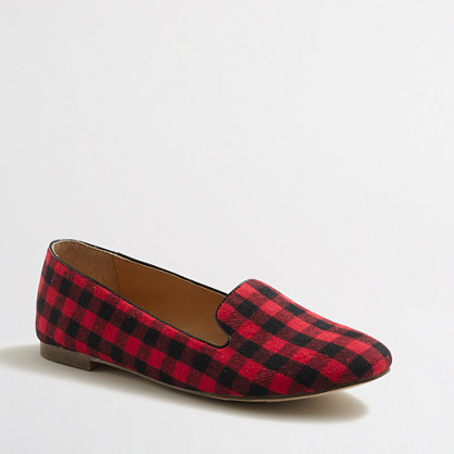 Factory Cora buffalo check loafers