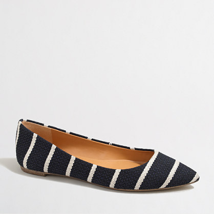 Factory Amelia textured stripe flats