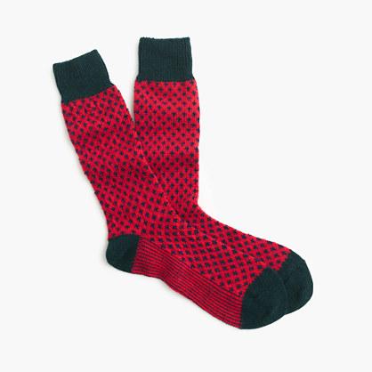 Fleur-de-lis mountain socks