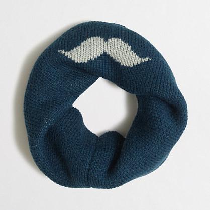 Boys' mustache infinity scarf