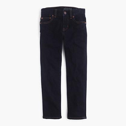 Boys's wrinkle rinse wash jean in stretch skinny fit
