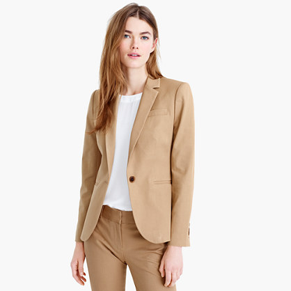 Campbell blazer in bi-stretch cotton
