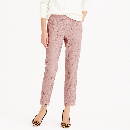 Pull-on pant in floral lace