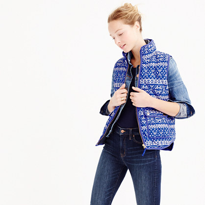 Excursion vest in Fair Isle