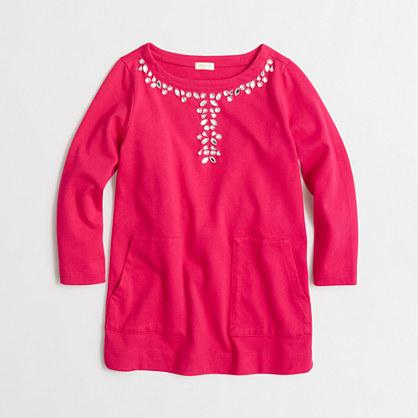 Girls' embellished tunic