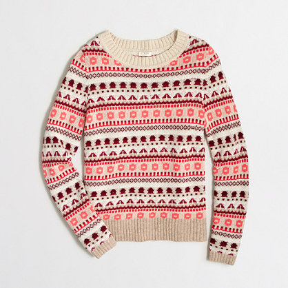 Factory Fair Isle striped sweater