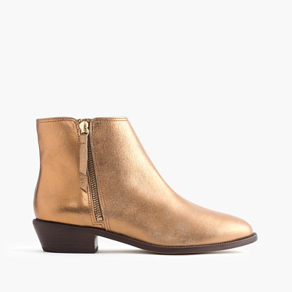 Frankie ankle boots in dark gold