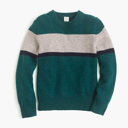 Boys' softspun sweater in stripe