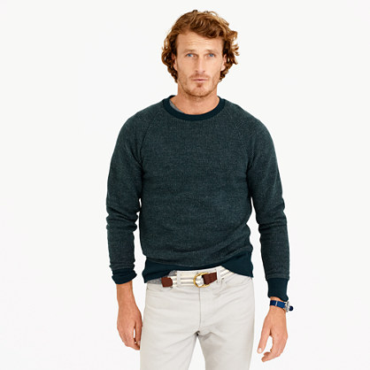 Bird's-eye sweatshirt