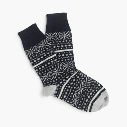 "Corgiâ""¢ cashmere Fair Isle socks"