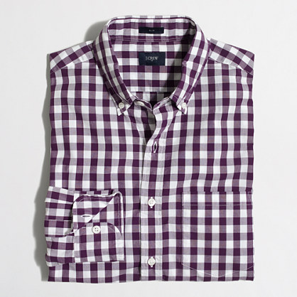 Slim patterned washed shirt