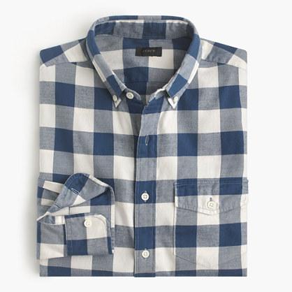 Slim brushed twill shirt in Batavia gingham