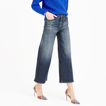 Petite Rayner wide-leg jean in keller wash