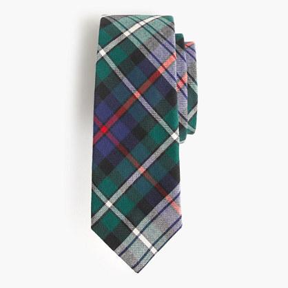 Boys' cotton tie in multitartan