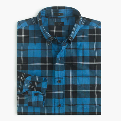 Slim vintage oxford shirt in Ramsay tartan