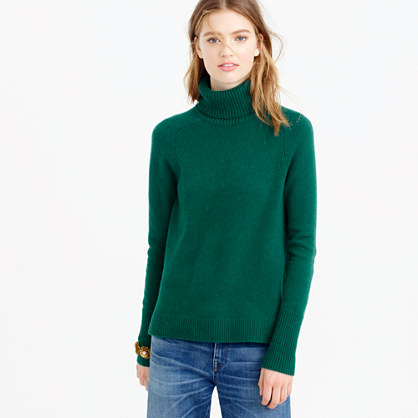 Classic turtleneck sweater in wool-cashmere blend