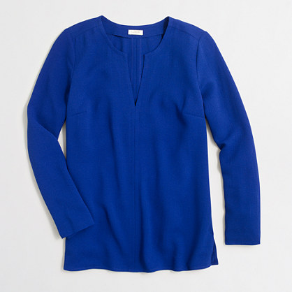 Factory petite textured crepe tunic