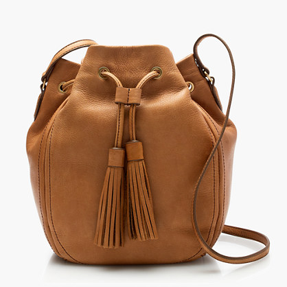 Tassel-tie bucket bag