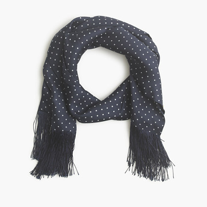 Silk dotted scarf