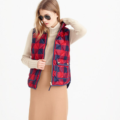 Excursion buffalo check vest