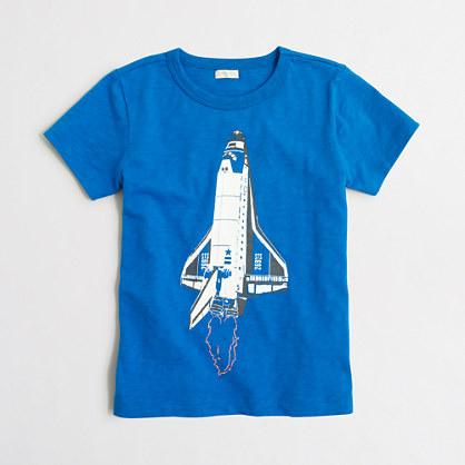 Boys' glow-in-the-dark rocket ship storybook T-shirt