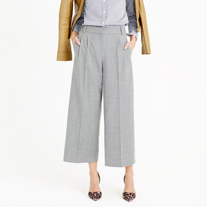 Cropped pant in wool flannel