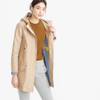 Petite chateau trench coat