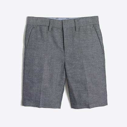 Factory boys' Thompson suit short in slub linen
