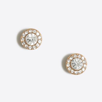 Glimmer circle stud earrings