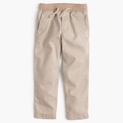 Boys' lightweight chino pull-on pants