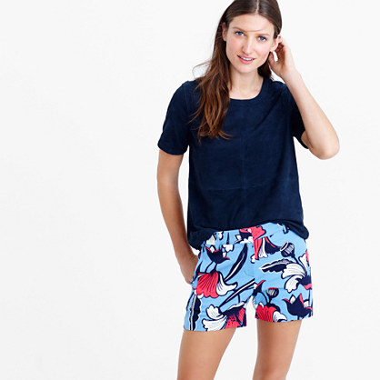 Dressy short in deco floral