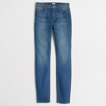 Factory daisy wash high-rise skinny jean with 29