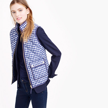Excursion vest in gingham