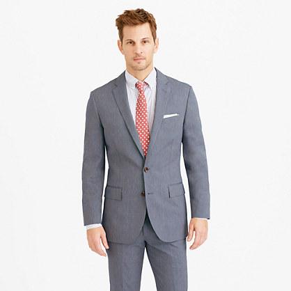 Ludlow suit jacket in microstripe Italian cotton