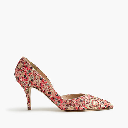 Colette d'Orsay pumps in glitter mosaic