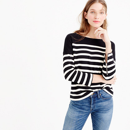 Striped ponte sweatshirt