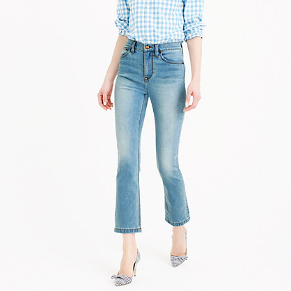 Billie demi-boot crop jean in Mayfair wash