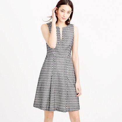 Contrast eyelet dress