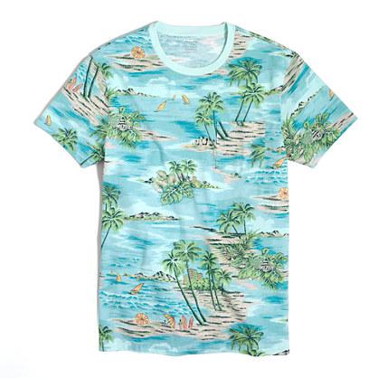 Factory slim Hawaiian vista T-shirt