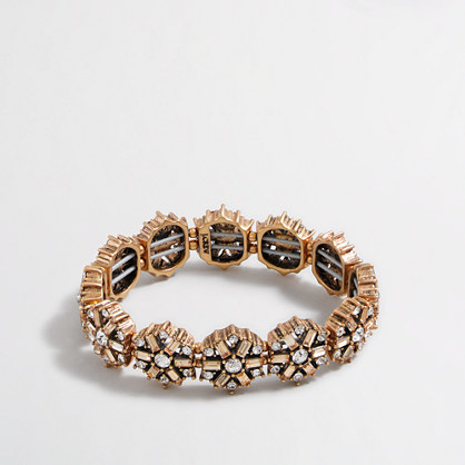 Factory crystal medallions bracelet