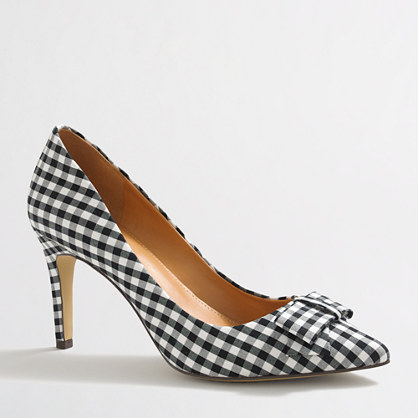 Factory Isabelle gingham bow pumps
