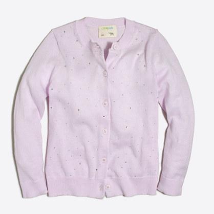 Girls' sparkle cardigan sweater