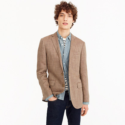 Ludlow blazer in Italian linen-silk