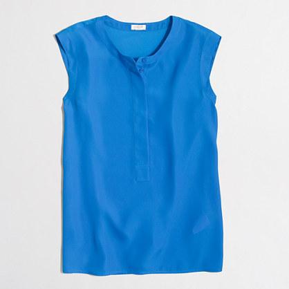 Factory petite drapey sleeveless popover shirt