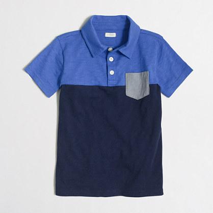 Factory boys' contrast pocket polo shirt
