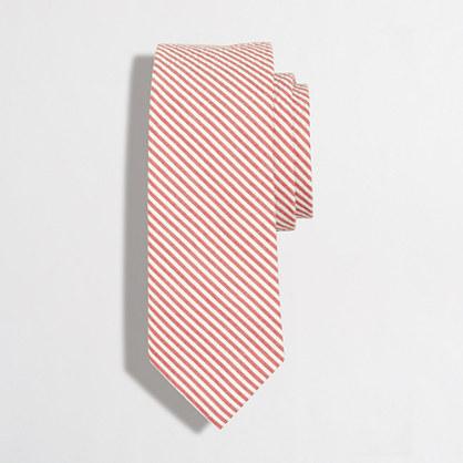 Factory seersucker tie