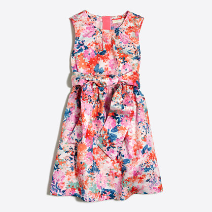 Girls' watercolor floral dress