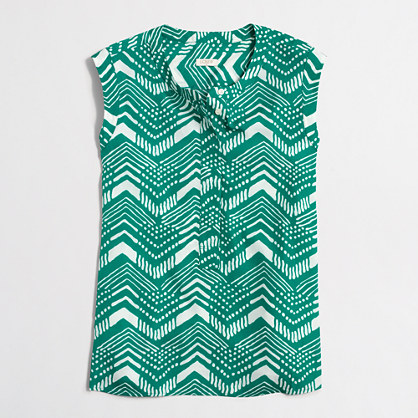 Factory petite printed drapey sleeveless popover shirt