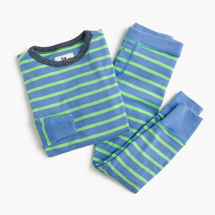 Boys' pajama set in neon stripe