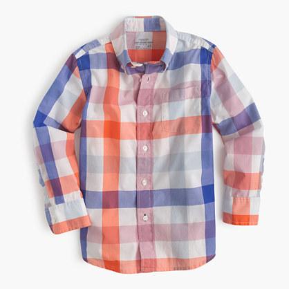 Kids' Secret Wash shirt in large gingham